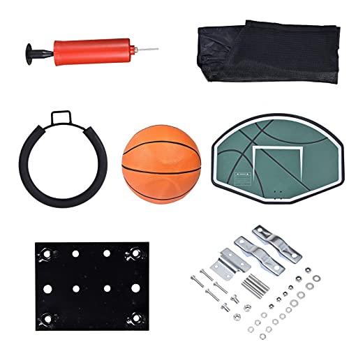 Raspbery Hoop de Baloncesto de trampolín Universal con Bola y apego Soporte Universal de Baloncesto de trampolín Robusto fácil de Montar para Postes Netos Rectos Expert