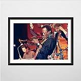 zpbzambm Cuadro En Lienzo 40X50Cm Sin Marco,Miles Davis Blue Jazz Músico Más Grande Saxofón Arte Seda Pintura Lienzo Cartel De La Pared Decoración para El Hogar Zp-1104