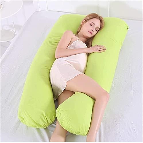 SDFOOWESD Almohada en Forma de u cojin para Embarazadas para Dormir Almohada Embarazada y Cojín Lactancia Almohadas corporales para Adultos Almohada de Cuerpo Completo en Forma de U Suave y Suave - C