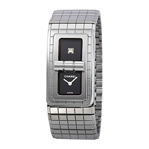 Chanel Code Coco H5144 - Reloj de señoras con esfera lacada negra