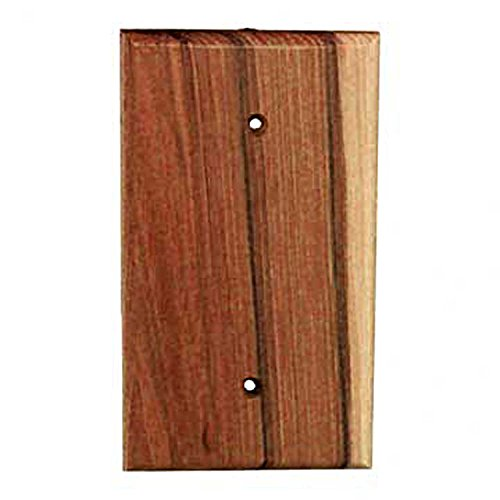 Sierra Lifestyles Traditional Switch Plate, 1 Blank, Rustic Switch Plate Hickory