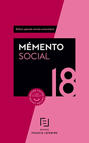 MEMENTO SOCIAL ETUDIANT 2018