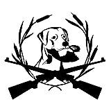 2 piezas, pegatinas de coche, perro de caza Labrador mascota negro arte creativo vinilo etiqueta de la ventana del coche pegatinas reflectantes del coche calcomanía del cuerpo etiqueta engomada de la