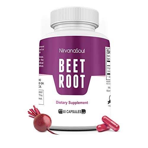 Beet Root Capsules - 1300mg - Made with Organic Beets Powder That Supports Lower Blood Pressure, Immune System, Athletic Performance, Digestive - Natural Nitric Oxide Boosting Beet Root Supplement