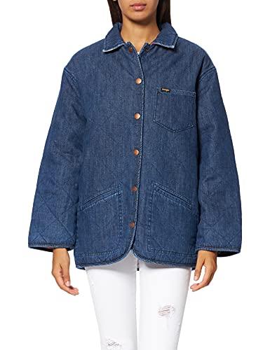 Wrangler Duvet Jacket Chaqueta Vaquera, Stonewash Mid, M para Mujer