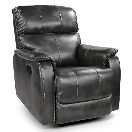 OT QOMOTOP Fabric Recliner Chair Sofa, Rocker Recliner Chair Manual...