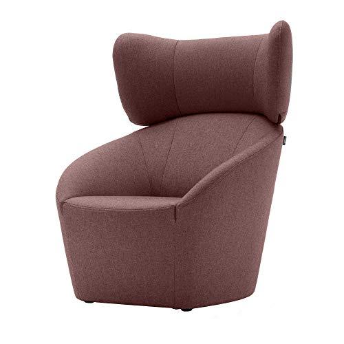 Freistil 178 stoel met hoofdsteun, pastelpaars stof 1075 (100% polyester)