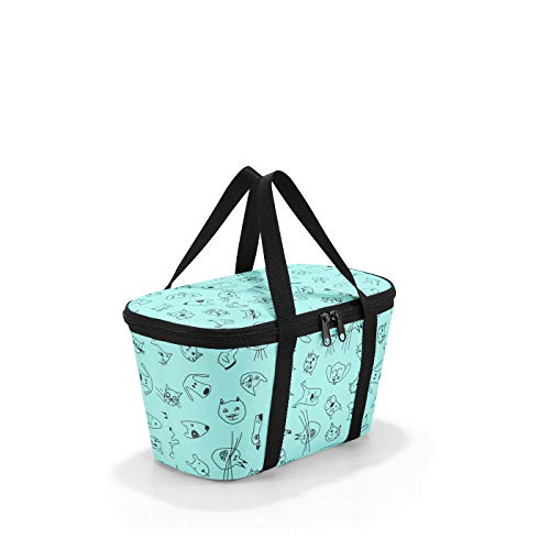 Reisenthel coolerbag XS Cats and Dogs Bolsa de Deporte Infantil, 28 cm, 4 Liters, Turquesa (Mint)