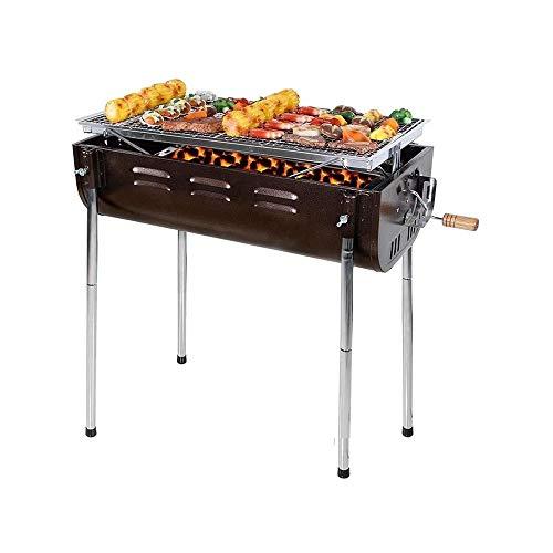 UNU_YAN Moderne Einfachheit Barbecue Grill, im Freien beweglichen Haus for mehr als 5 Personen verdickte Holzkohle BBQ-Werkzeuge Holzkohle-Grill