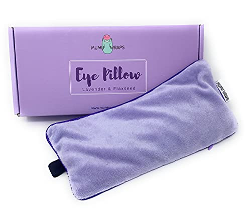 Mumu Wraps Weighted Eye Mask for Sleeping - Lavender Eye Pillow for Yoga, Meditation, Relaxation Headache, Migraine, Sinus Pain Relief