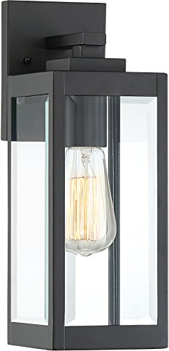 Quoizel WVR8405EK Westover Modern Industrial Outdoor Wall Sconce Lighting, 1-Light, 100 Watt, Earth Black (14