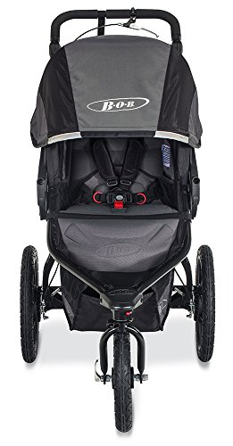 BOB Revolution PRO Jogging Stroller - Up to 75 Pounds - UPF 50+ Canopy - Easy Fold - Adjustable Handlebar with Hand Brake, Black