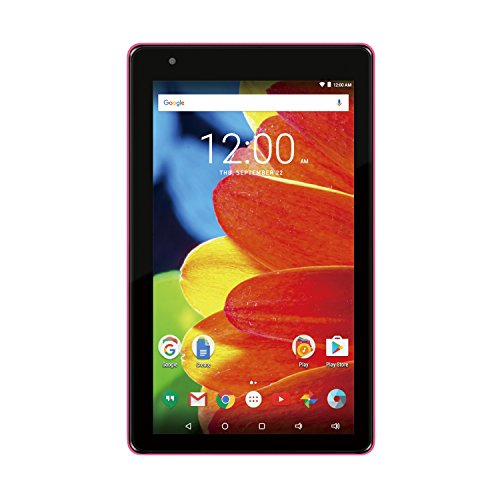 """2017 Newest Premium High Performance RCA Voyager 7"""" 16GB Touchscreen Tablet Computer Quad-Core 1.2Ghz Processor 1G Memory 16GB Hard Drive Webcam WiFi Bluetooth Android 6.0-Pink"""