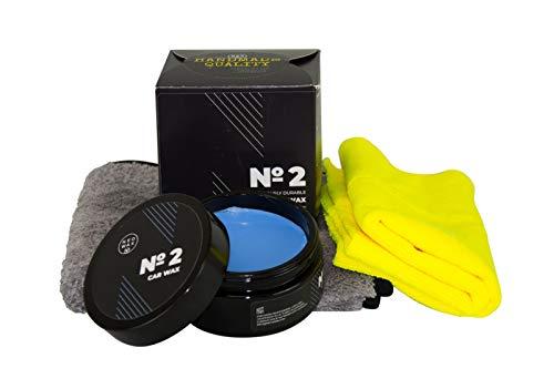 NEOWAX Car Wax №2 Wachs Autowachs Versiegelung Lackversiegelung CoatingWax 200 ml & Mikrofasertuch Grau 500GSM & Applikator