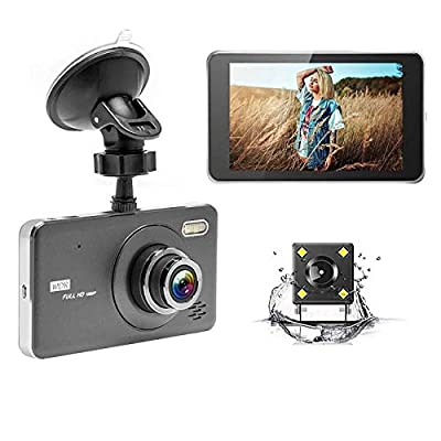SPRIS CHEZAI Dashcam Car Camera, 4 Inch 170 Degrees Wide Angle Full HD 1080P Video Car DVR, Support TF Card/Motion Detection/Loop Recording from SPRIS