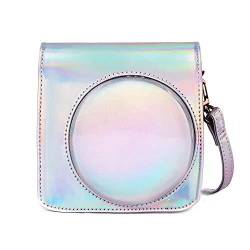 Phetium Schutztasche Kompatibel mit Instax SQ 6 Ex D Sofortbildkamera, Kameratasche mit Weichem PU Leder Material und Schulterriemen (Magisches Silber)