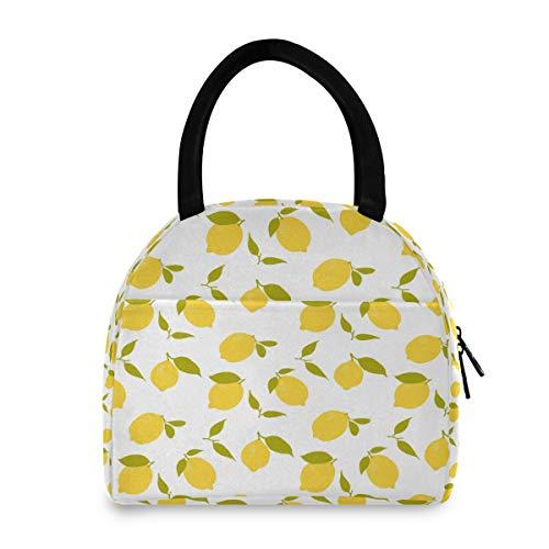 ADMustwin - Bolsa de almuerzo aislada, diseño de frutas y limón, para la escuela, picnic, viaje, trabajo, para mujer, hombre, adolescente