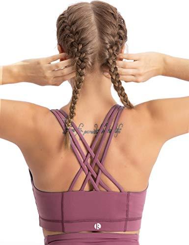 coastal rose Women's Zip Front Sports Bra Medium Impact Workout Running Crossback Yoga Tops US M Deco Rose