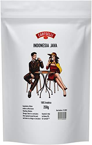 Granos de cafe | 100% Arábica | Cartselli Indonesia Java | 250g