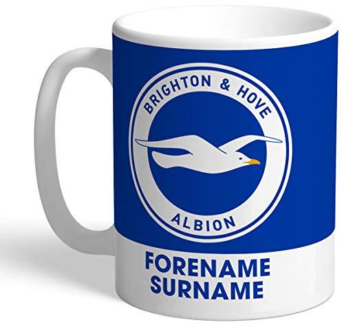 Brighton & Hove Albion Personalised FC Bold Crest Mug