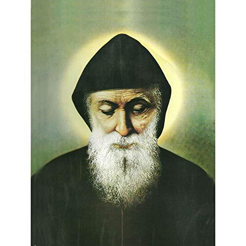 XuFan Saint Charbel Papst Paul VI Abbildung Ölgemälde Kunst Gemälde Leinwand Für Für Wohnzimmer Dekoration 40X50 cm Kein Rahmen