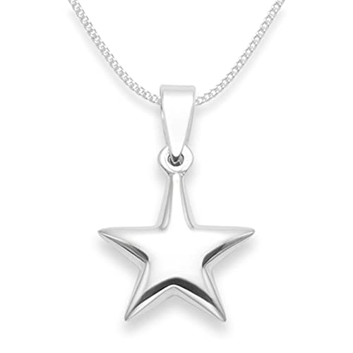 Sterling Silver Star Necklace on 16