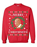 YSM Mike Tyson Merry Chrithmith Ugly Christmas Funny Sweatshirt Crewneck Sweater Red