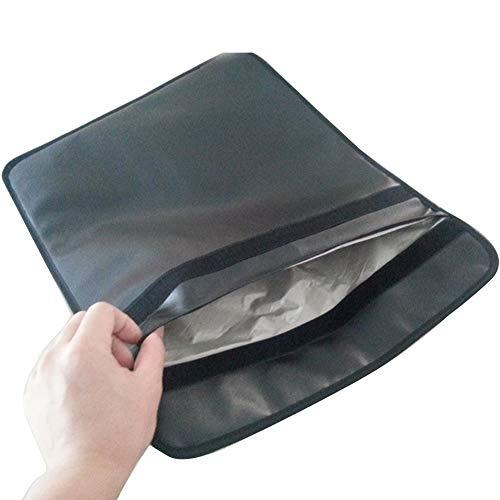 Buyfunny01 Faraday Bolsa Tablet Sólido Universal Teléfono Celular Anti Radiación Protección EMF Cuero PU Tarjetas de Crédito sy Clean Travel Portable Magic Sticker Cierre Señal (41 x 39 cm)