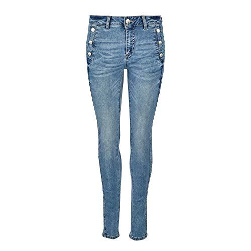 fransa Damen 20608929 FRPOWATER 1 Jeans Röhrenjeans Uni Baumwolle Eingrifftasche, Groesse 40, blau Denim