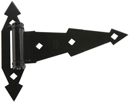 Stanley Hardware S827-584 SP1396 Heavy Duty Spring T Hinges in Black, 2 pack
