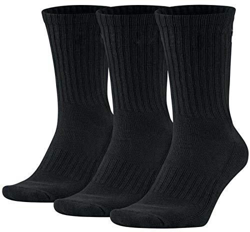 ITALIAN ENDURANCE calcetines deportivos de rizo cushioned crew calcetines de tenis trekking running Made in Italy hombre mujer varios surtidos 3 o 6 pares 3 Paia Black 42/46 ES