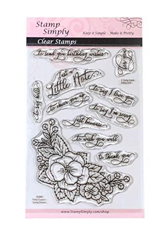 Stamp Simply Clear Stamps Spring Pansies Floral Cluster 4x6 Inch Sheet - 11 Pieces