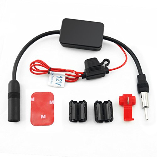 Fansport Auto Signalverstärker, Auto Antennen Booster Radio AM FM Signalverstärker für LKW Auto
