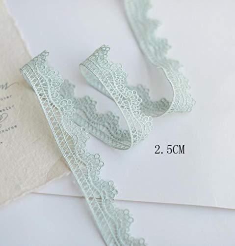 5 meter prachtige mintgroene borduurstof kant lint diy naaien gordijn kleding guipure versieringen ambachtelijke decoratie, 2