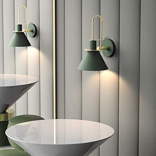 Wandlamp, kristal, spiegel, verlichting voor, vintage, loft, wandlamp, smeedijzer, metaal, voor verlichting van nachtkastje, wandlantaarn E27-lamp voor woonkamer Groen