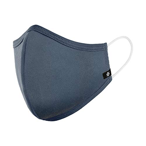 StringKing Reusable Cloth Face Mask - Protection for Kids and Adults - USA-Made, Washable Face Masks (Case of 100 - Large - Navy)