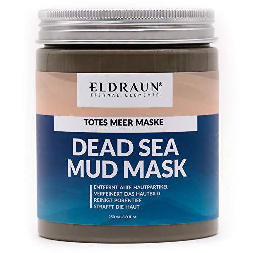 Totes Meer Schlamm Maske von ELDRAUN® • reinigt, strafft und verfeinert die Haut • mit weißer Tonerde, Aloe Vera und Shea Butter • 250 ml / 290 g • Anti Aging Dead Sea Mud Mask