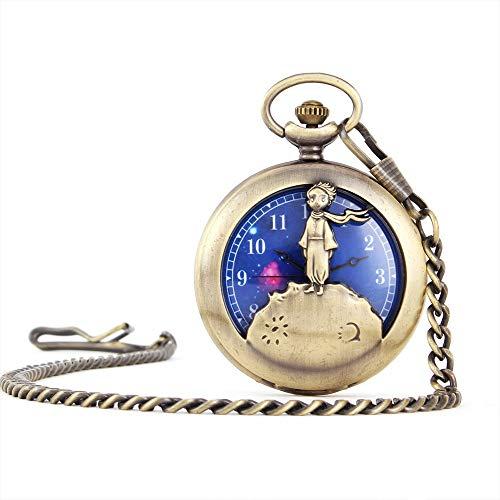 Reloj de Bolsillo clásico Delicado Collar de Cuarzo Reloj de Bolsillo Estrellada...