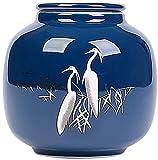 LIANGJUANG urnas para Cenizas Mascotas urna metacrilato urna Cenizas Urns Urna para Mascotas Urna de entierro para Adultos, Hecha a Mano de cerámica grabada a Mano, Urna de entierro de exhibición en