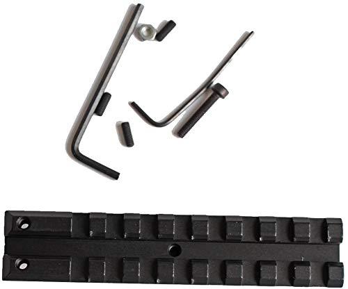 QFL Tactical Picatinny hinten Weaver 20mm-Schienen-Montage for AK Serie Softair elektrische Gewehr AEG AK 47 Visierschiene Jagd-Bereich-Einfassung Alle Metallmaterialien