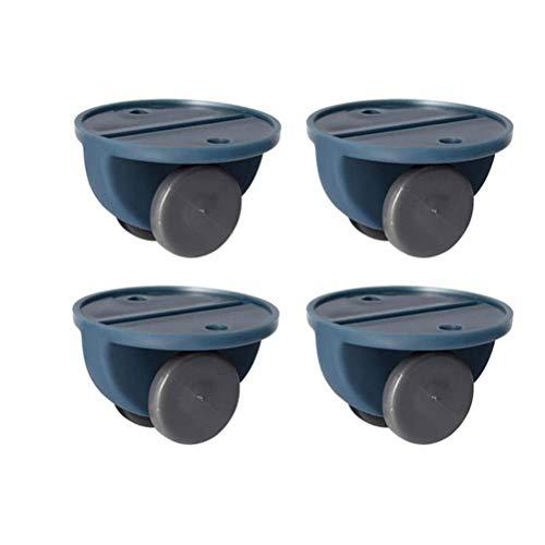 Hidyliu Caja de almacenamiento de 4 poleas adhesivas, no giratorias, ruedas para muebles para caja de almacenamiento de basura, caja de pañuelos de una sola dirección (azul marino)