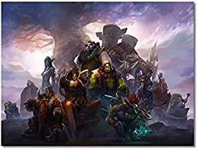 UETECH PaintingsOnCanvas World of Warcraft Faction Leaders ArtworkforLivingRoomBedroom 36 x 24 inches