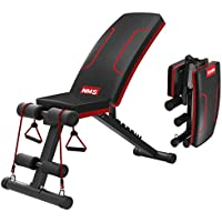 Songsh - Banco plegable con inclinación ajustable, multiusos, banco de ejercicio portátil, ideal para entrenamiento de fitness, multiposición, para ejercitar todo el cuerpo