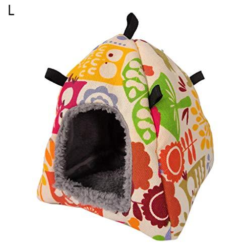 HAINAN Hamaca de invierno cálida para colgar en casa de pájaros, juguete para mascotas, loros, periquitos, hámster dorado, ratón, erizo, cobayas, periquitos, cacatúas, pinzones canarios