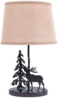 Dennis East International 18-Inch Metal Moose Burlap Shade Table Lamp (1)