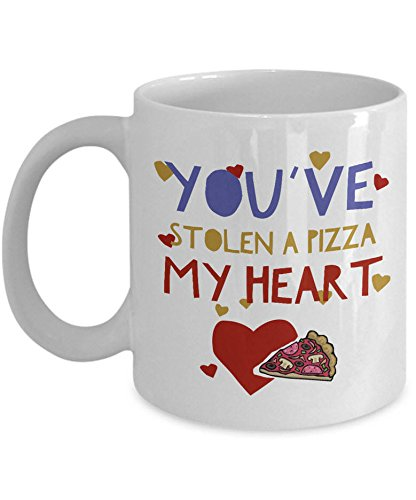 Funny Pizza Coffee Mug - Pizza Lovers Gift For Men Or Women - Pizza Themed Mug - Pizza Lover - Valentines Day Gift - Pizza Pun Mug 15oz