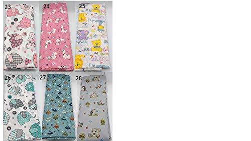 Stoffpaket Kinder Kinderstoff verschiedene Größen Baumwolle Stoffreste Webware Patchen Patchwork Baumwollstoff Restepaket Kindermotiv rosa weiß gelb mint grau türkis