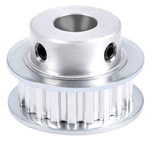 sourcing map Aluminio XL 20 Dientes de 12 mm de diámetro Polea de Correa de Distribución para 10mm Correa de impresora 3D CNC