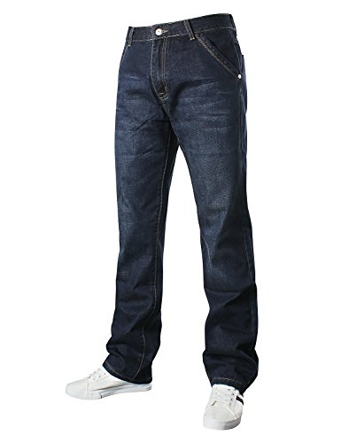 Demon&Hunter 809 Loose Fit Series Hombre Pantalones Vaqueros Relaxed Jeans DH8009-1(42)