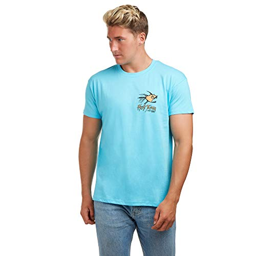 Hot Tuna Retro Piranha Camiseta, Azul (Atoll Blue Abl), Medium para Hombre